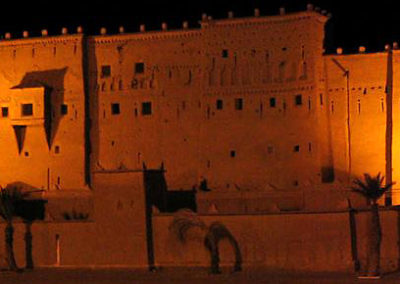 Kasbah Taourirt at night